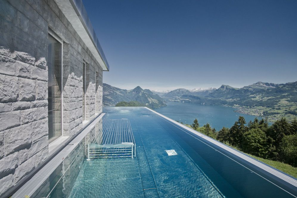 Best Hotel In Switzerland With Infinity Pool Hotel Villa Honegg Lucerne Switzerland Hotel Villa Honegg Villa Honegg Cool Pools