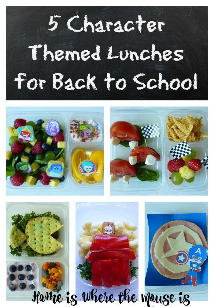 Send your kids back to school with any of these fun character themed lunches! | Back to School | Disney | Peanuts | Kids lunch