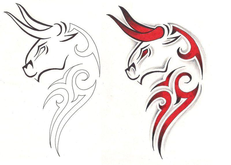 tribal taurus tattoo design idea tatts pinterest