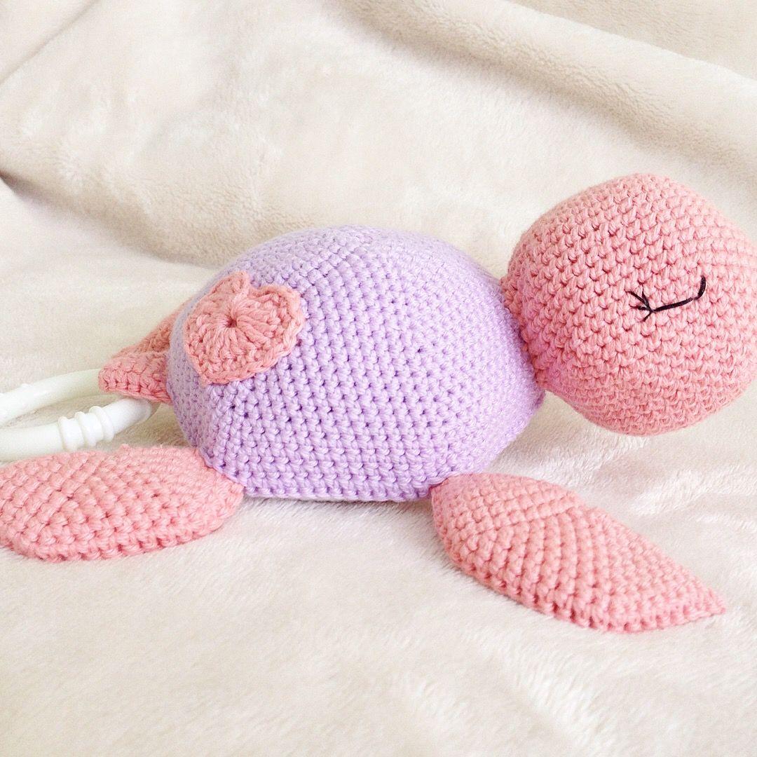 Gehäkelte Schildkröte Mit Spieluhr Schildkröte Häkeln Turtle