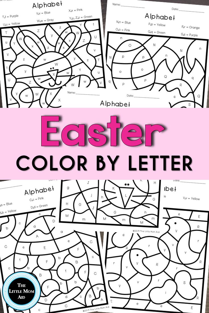 Easter Color By Letter Easter Alphabet Coloring Pages Easter Colors Alphabet Coloring Pages Easter Kindergarten Activities [ 1100 x 735 Pixel ]