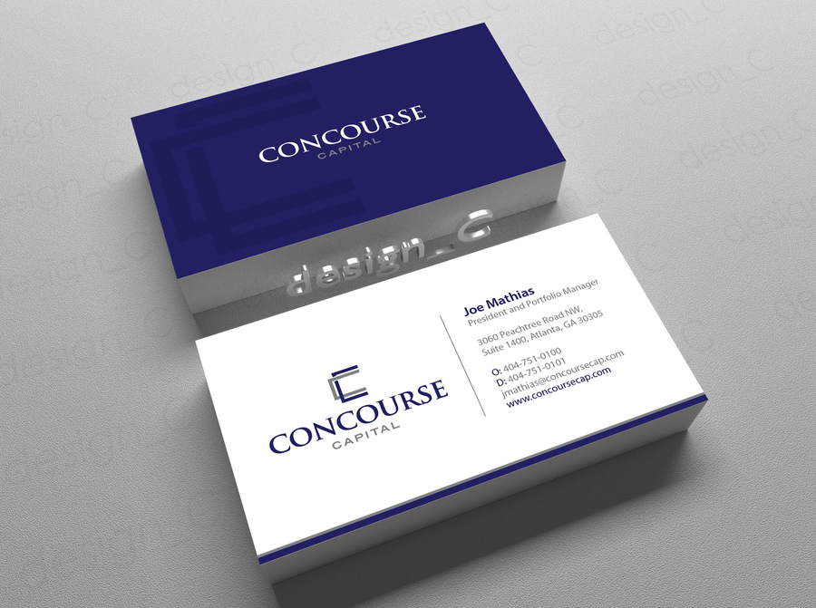 Create sophisticated business card for boutique hedge fund by ...