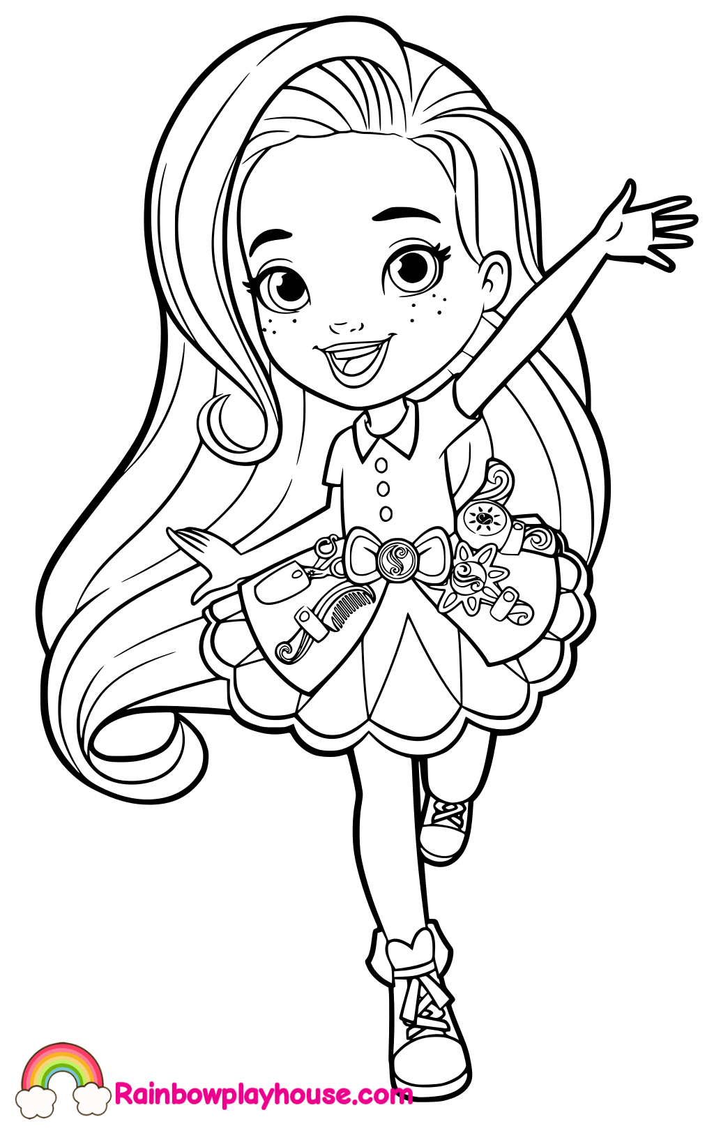 Sunny Day Hairstylist Coloring Page With Images