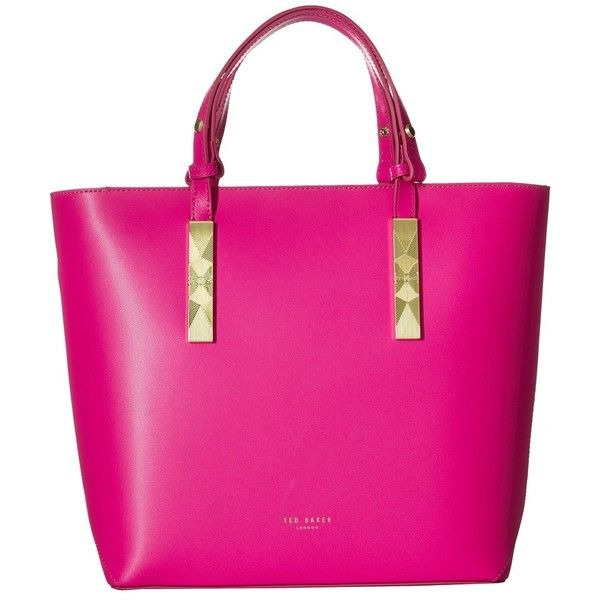 Ted Baker Core Leather Large Tote Bright Pink Handbags 249