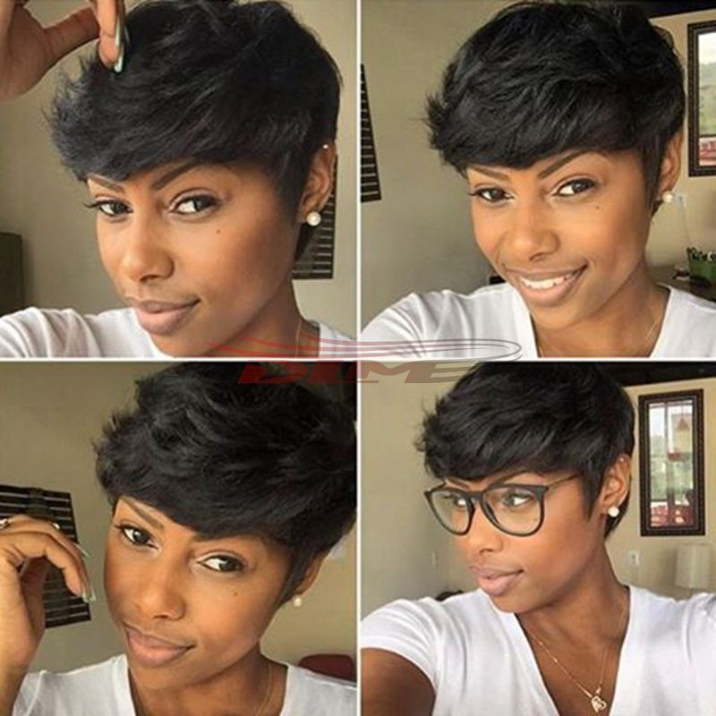 Pics Of Short Hair Weave Hair Style 4 Inch Straight Human Hair