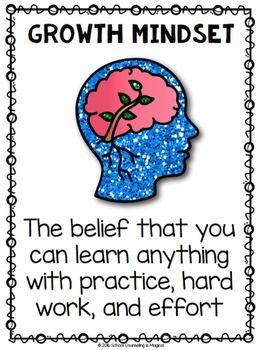 Mindset Beliefs Bingo Growth Mindset Game Kindergarten Listening Skills Growth Mindset