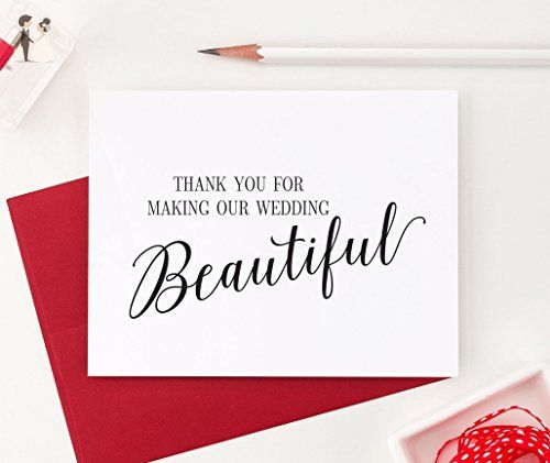 Thank You for Making our Wedding Beautiful, Wedding Card to Your - wedding thank you note