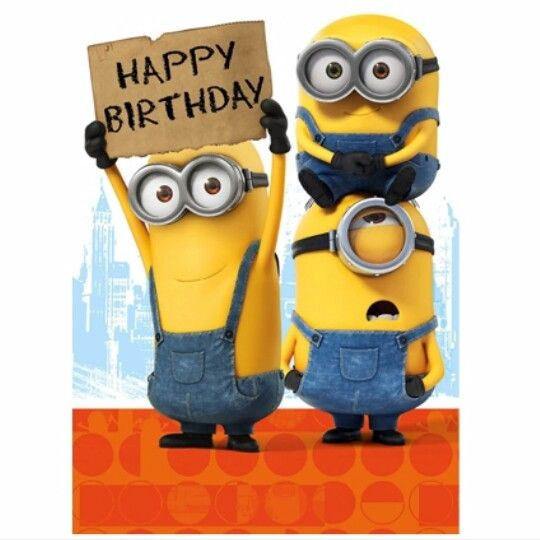Pin By Karen Geri On Minions Happy Birthday Minions Minion Birthday Wishes Happy Birthday Signs