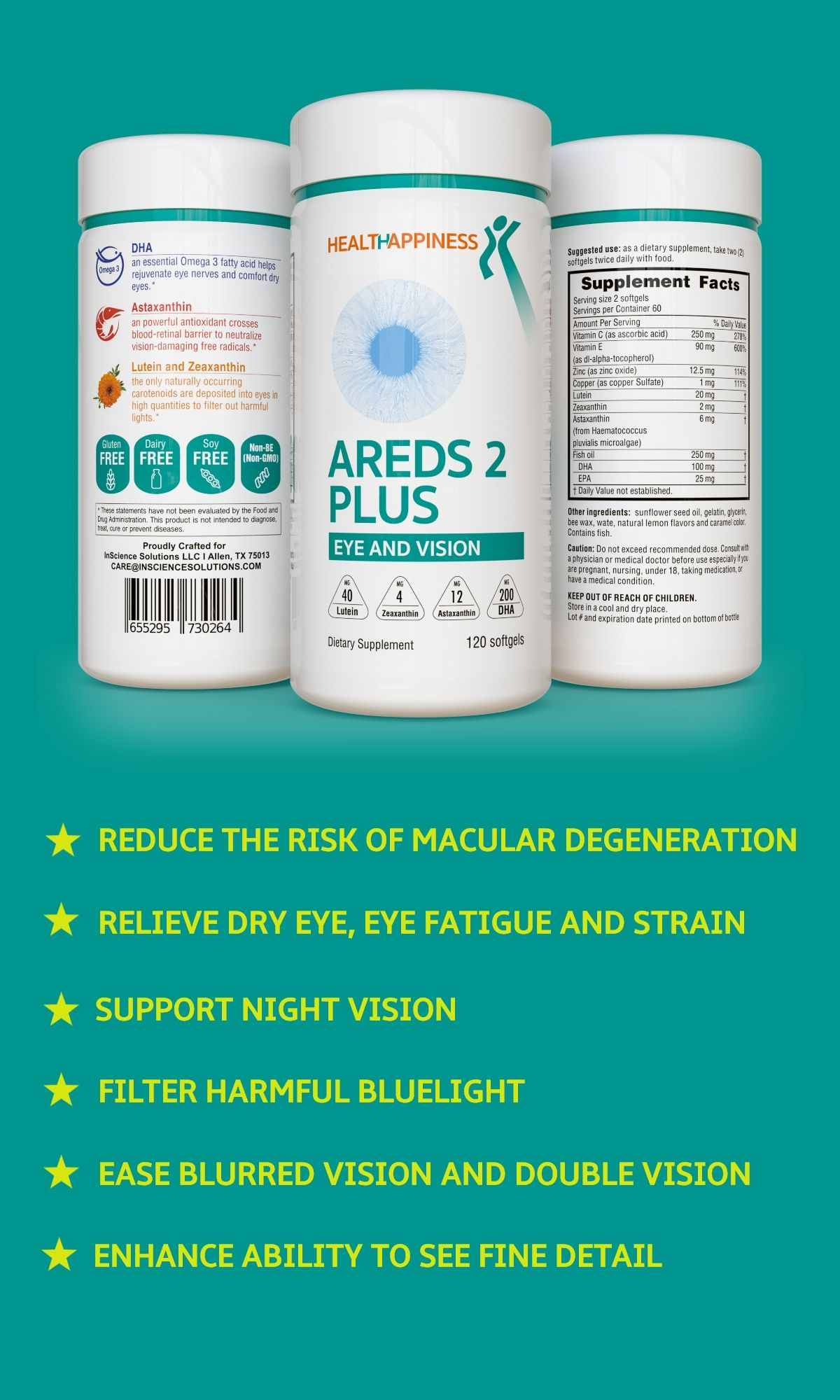 Areds 2 Vitamins For Eyes In 2020 Eye Vitamins Healthy Eyes Eye Health