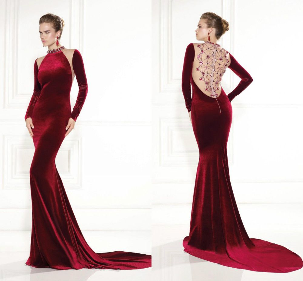 Dark red prom dresses with sleeves google search robe chik