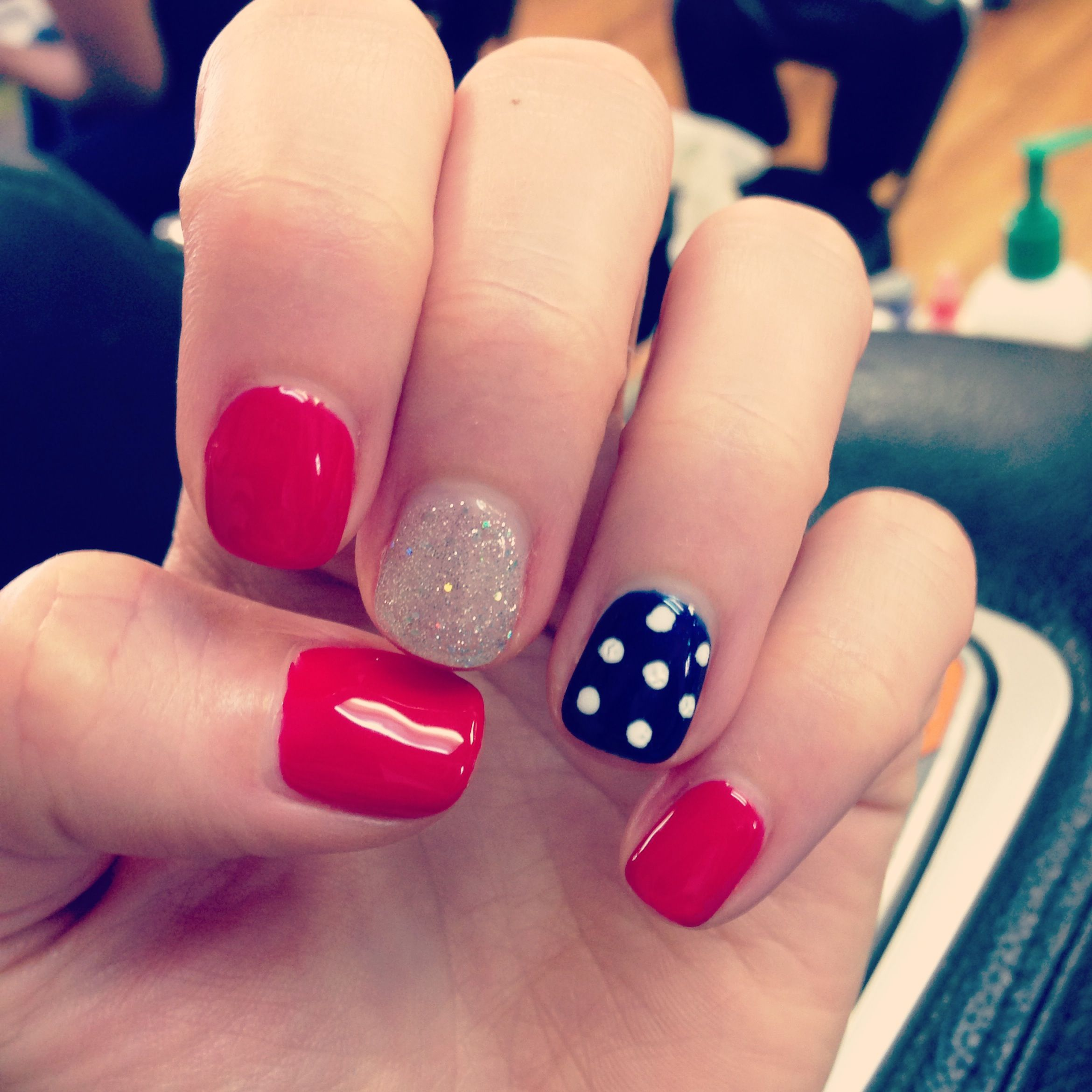 Cutie Nails :) Red White Blue