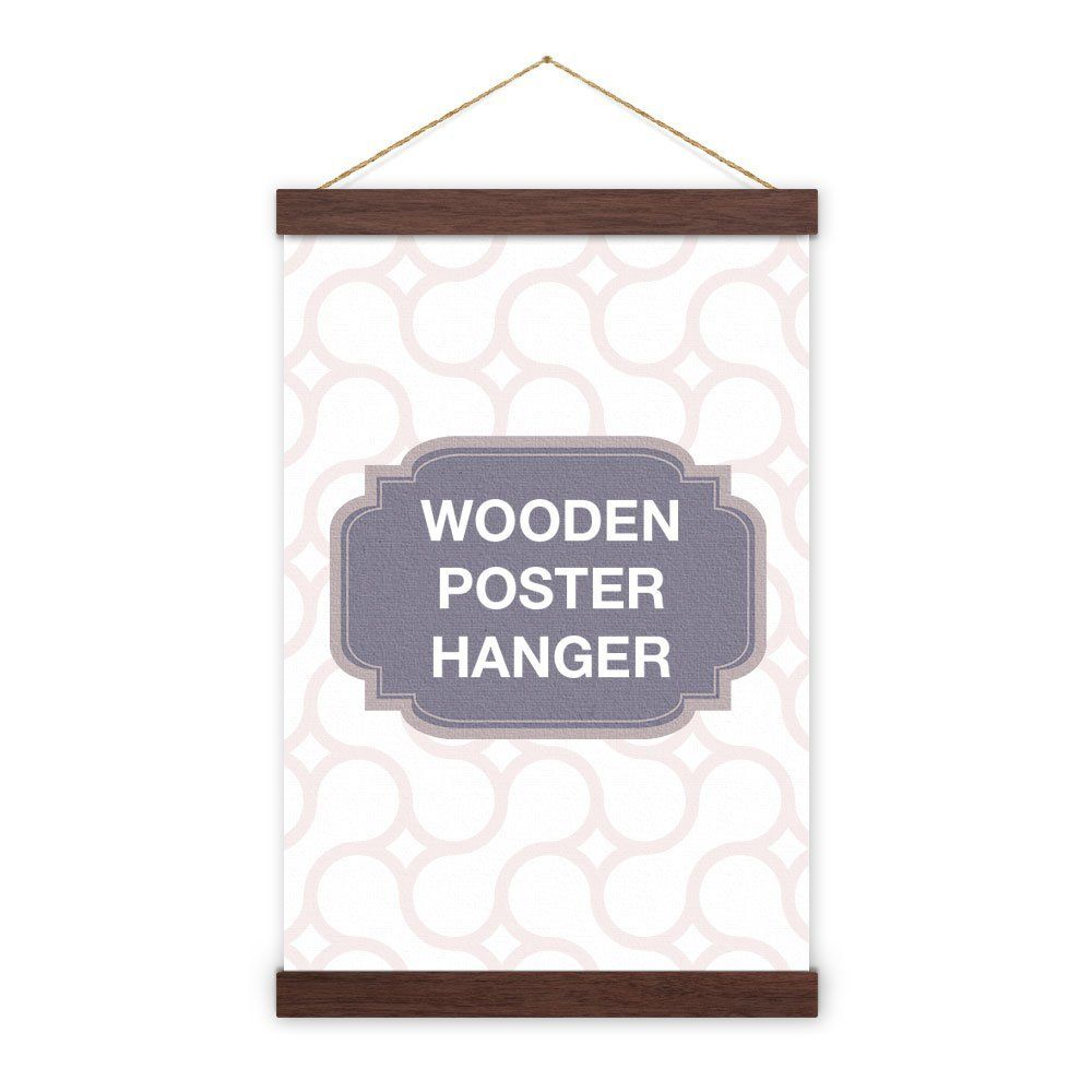Amazonsmile Walnut Wooden Poster Hanger Magnet Self Assembly 12 Inch 30 48cm Poster Hanger Picture Frame Shop Picture Frame Decor