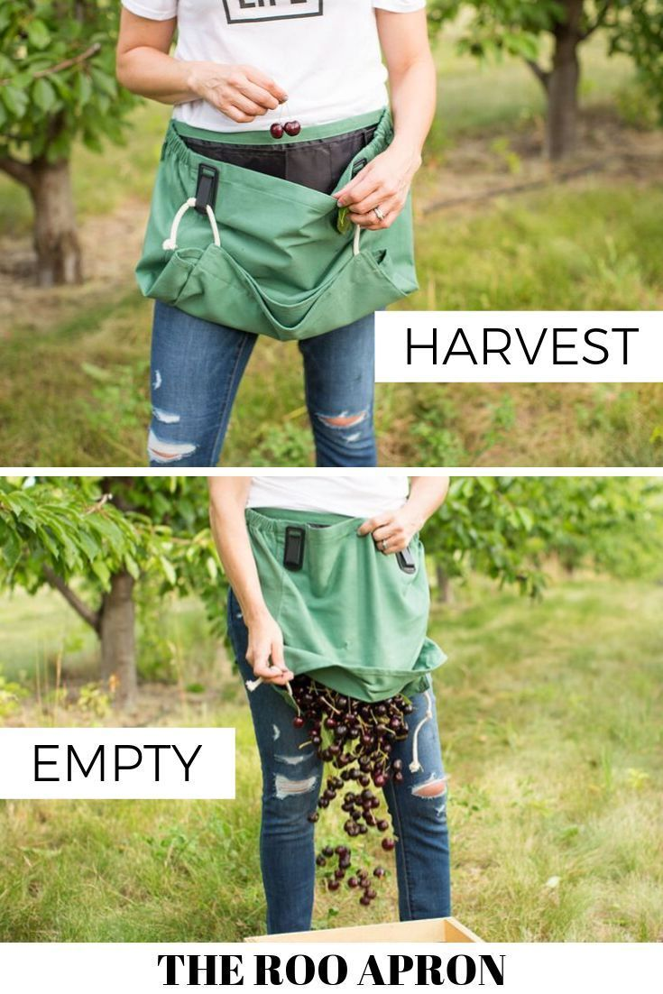 Multi Purpose Harvest Apron Garden Picking For Collecting Edibles Trimmings Weed
