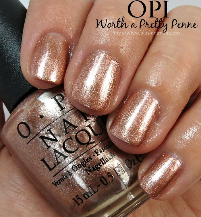 OPI Worth a Pretty Penne Nail Polish Swatches // Venice Collection ...