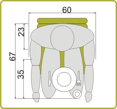 medidas mínimas mesa de 4 personas | Interiors, Small furniture and ...