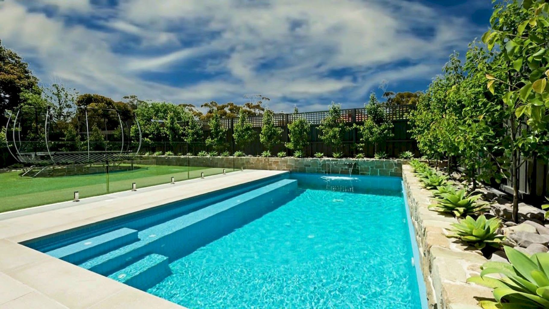Attractive Beautiful Swimming Pool Trends For Your Home Swimming Pool Designs Rectangular Pool Swimming Pool Trends
