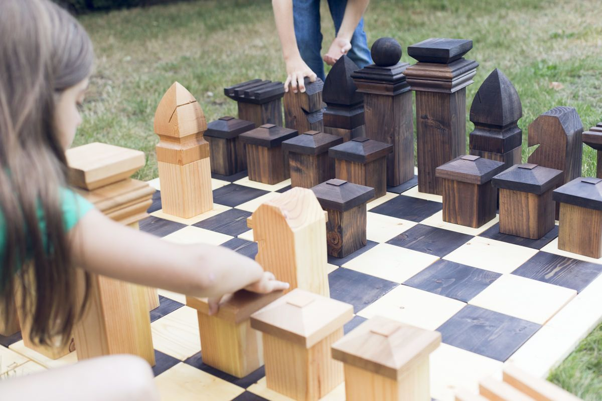 Learn How To Build A Diy Outdoor Chess Set That Will Keep All Ages Entertained Dunn Diy Diy Outdoor Outdoor Diy Projects
