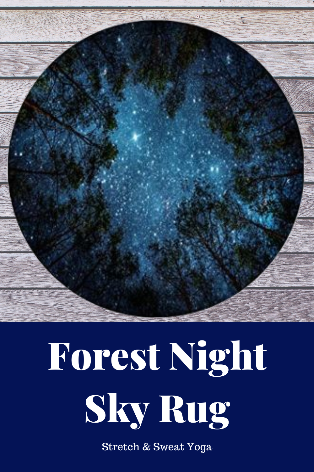 Looking Up Forest Night Sky Area Rug  A beautiful addition to any ecofriendly living spaceyoga