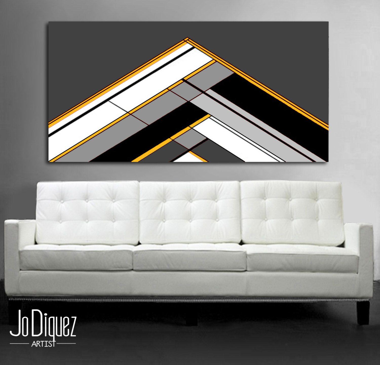 Original geometric painting. 24x48\