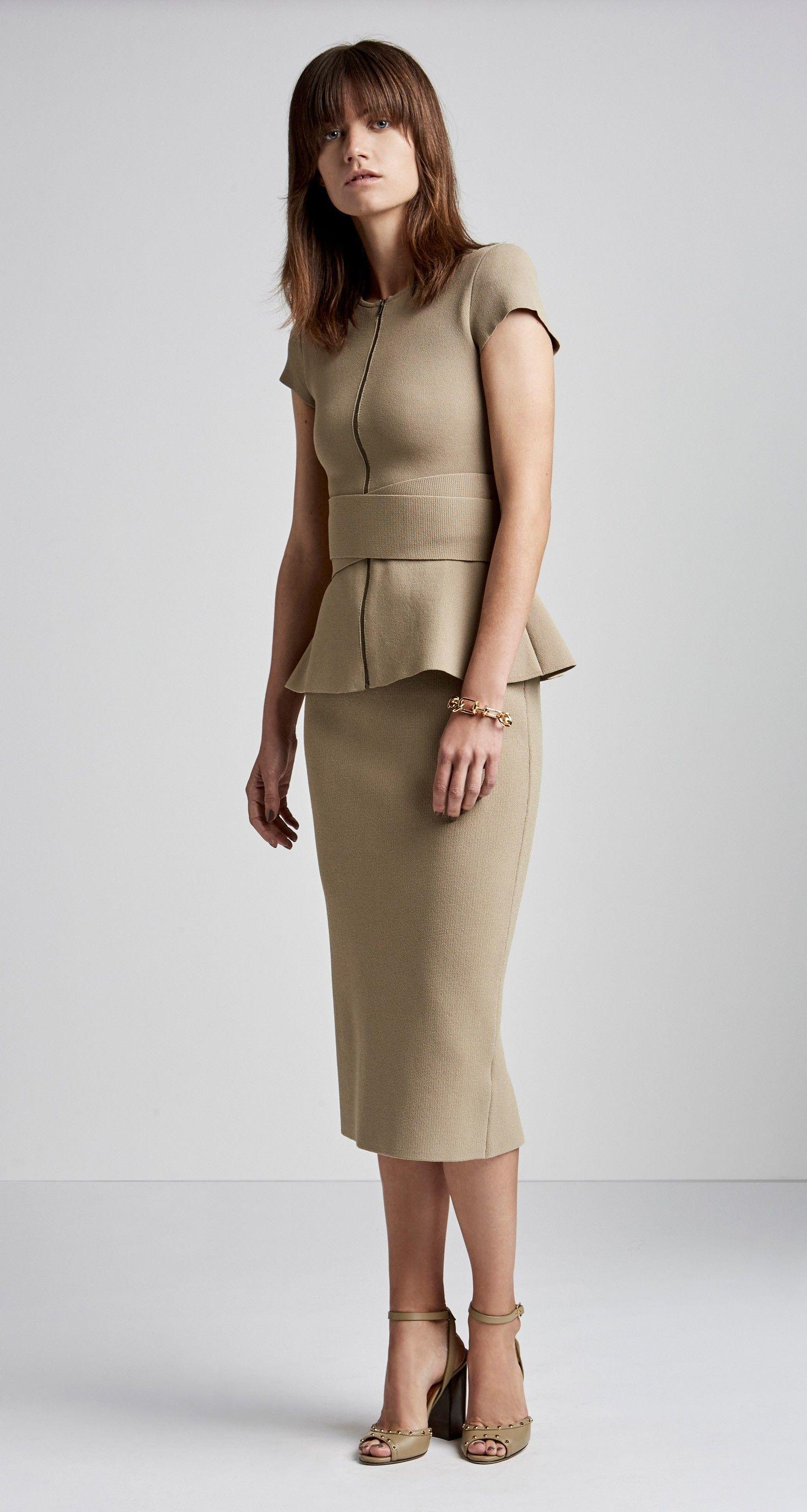 409c0c534f90 CREPE KNIT SLIT BACK SKIRT - Skirts - Sale | SCANLAN THEODORE ...