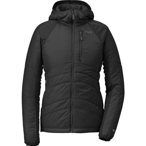 Outdoor Research Women's Halogen Hoodie, Black/Charcoal, Medium Outdoor Research