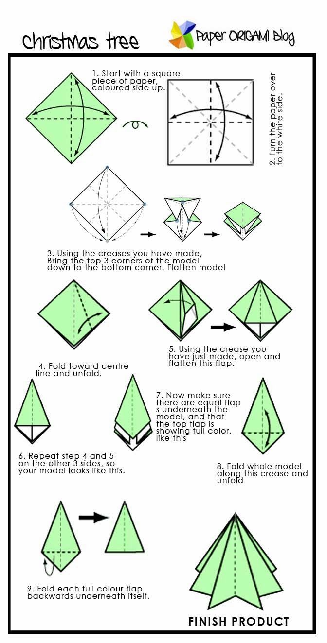 Christmas Tree Origami Origami Instructions Pinterest Origami