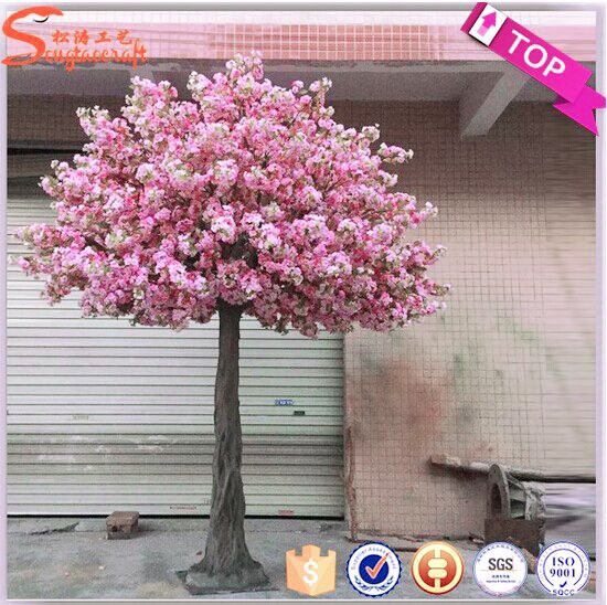 Pin By Rasoul Haji On Flores Tall Arrangements Artificial Cherry Blossom Tree Cherry Blossom Wedding Decor Cherry Blossom Wedding