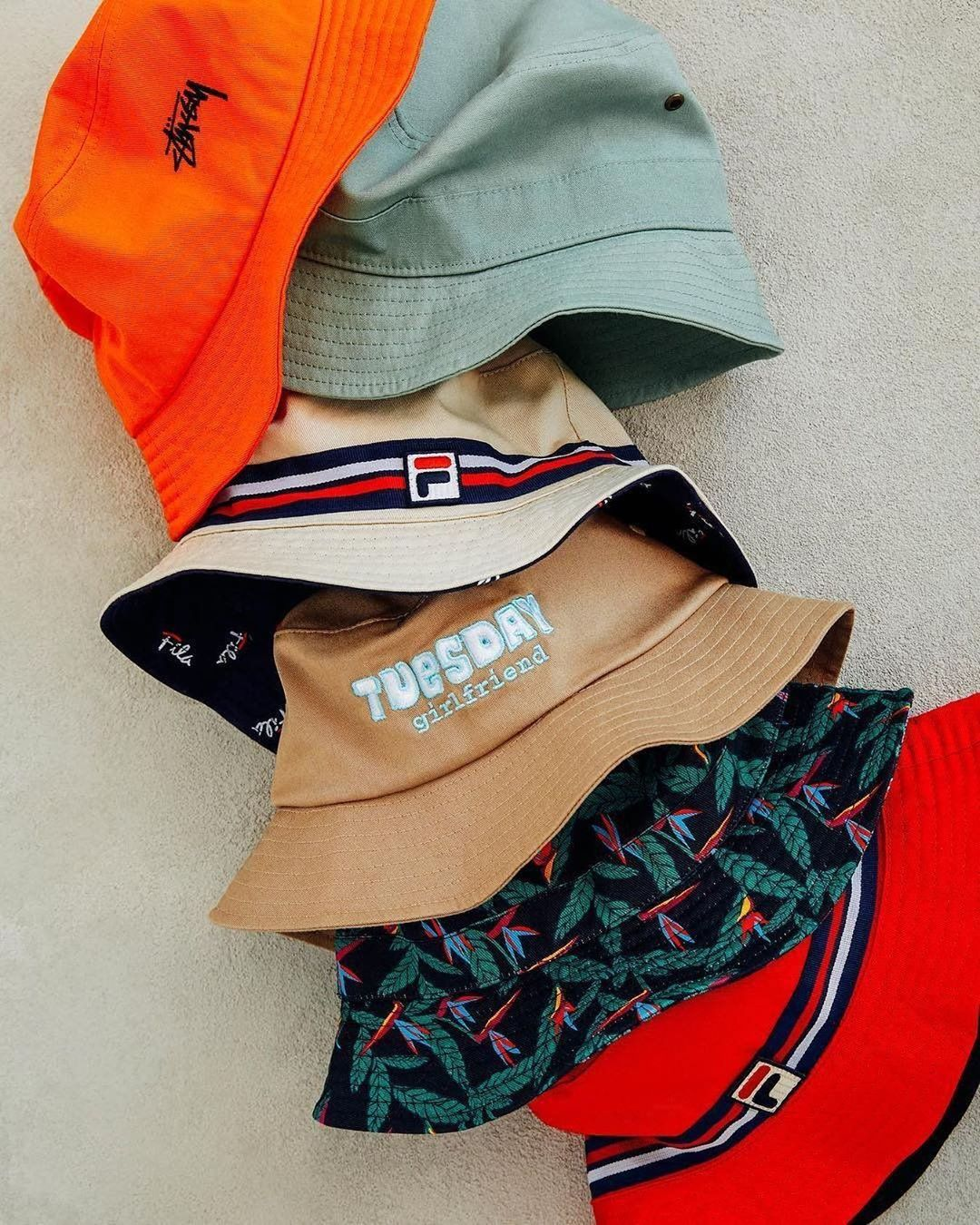 Colorful charade of hats