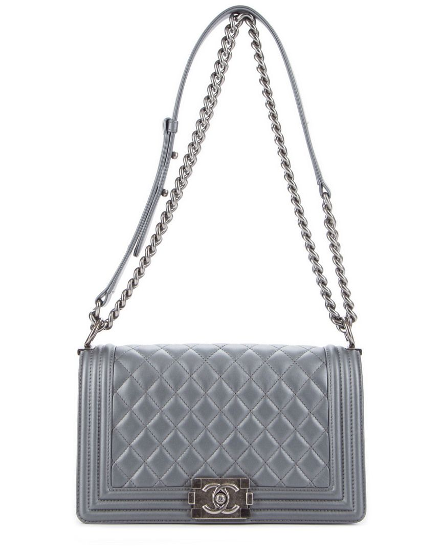32bd3f4d4abf Discover ideas about Chanel Handbags. Saved by. Spotted Fashion. 22. Chanel  Grey Micro Chevron Boy Bag ...