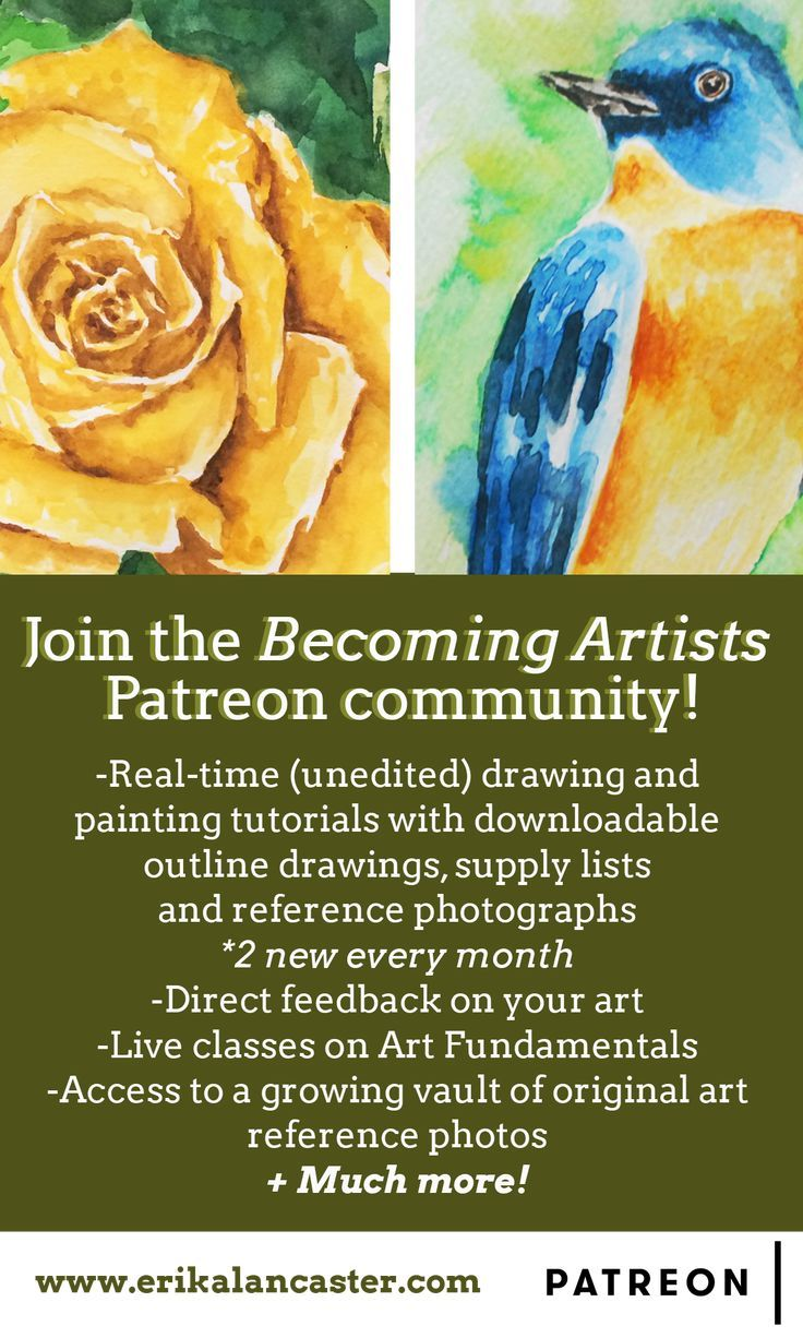 Erika Lancaster Artist Is Creating Drawing Painting Tutorials