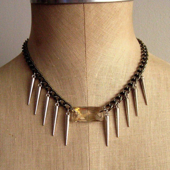 Swarovski Crystal Spike Collar Necklace $35, Like Sultry Affair on Facebook and get 10% off, must send message with email.  http://www.facebook.com/pages/Sultry-Affair-Jewelry/165908186803159