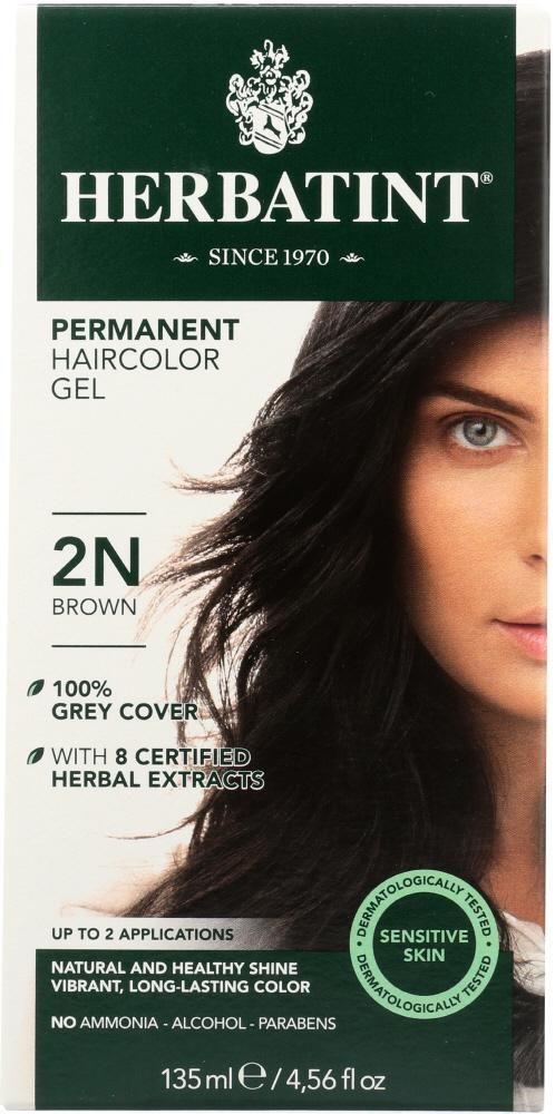 Photo of Herbatint: Permanent Herbal Haircolor Gel 2N Brown, 4 Oz