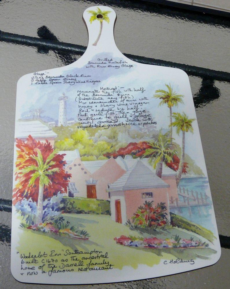 Cutting Board Melamine Art Carole Holding Waterlot Inn