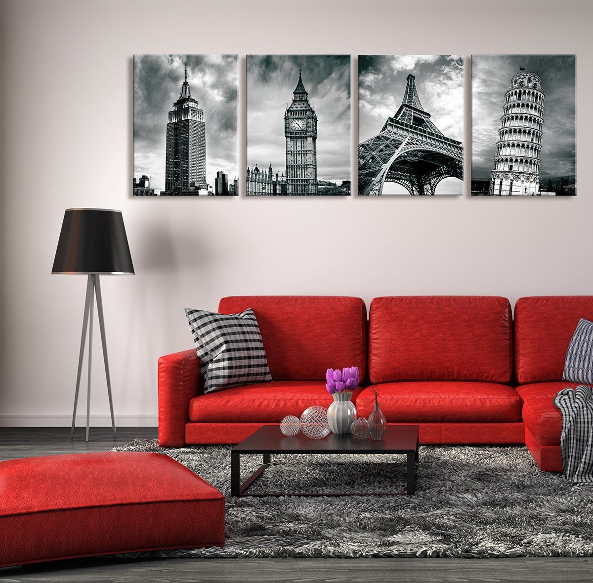 Black And White Architectures Photos Wall Art New York Empire State Building Uk London Big Ben Eiffel Photo Wall Art Eiffel Tower Pictures Architecture Photo