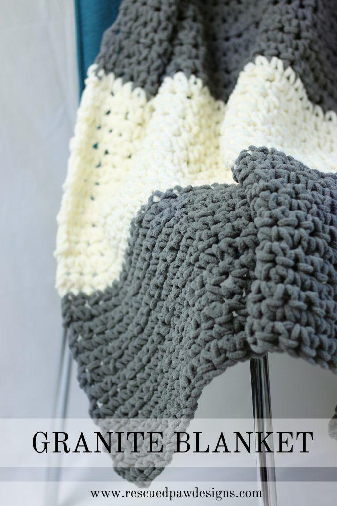 The Granite Crochet Throw Blanket a Free Crochet Pattern | Puntos