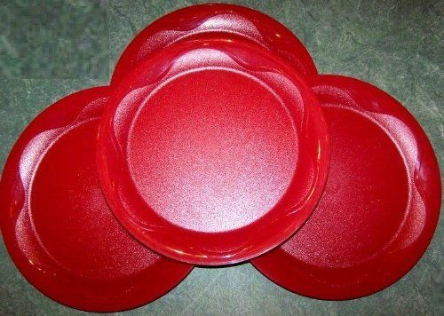 Tupperware 8\  Open House Floresta Red Plates Set of 4 by Tupperware. $11.17. & Tupperware 8\