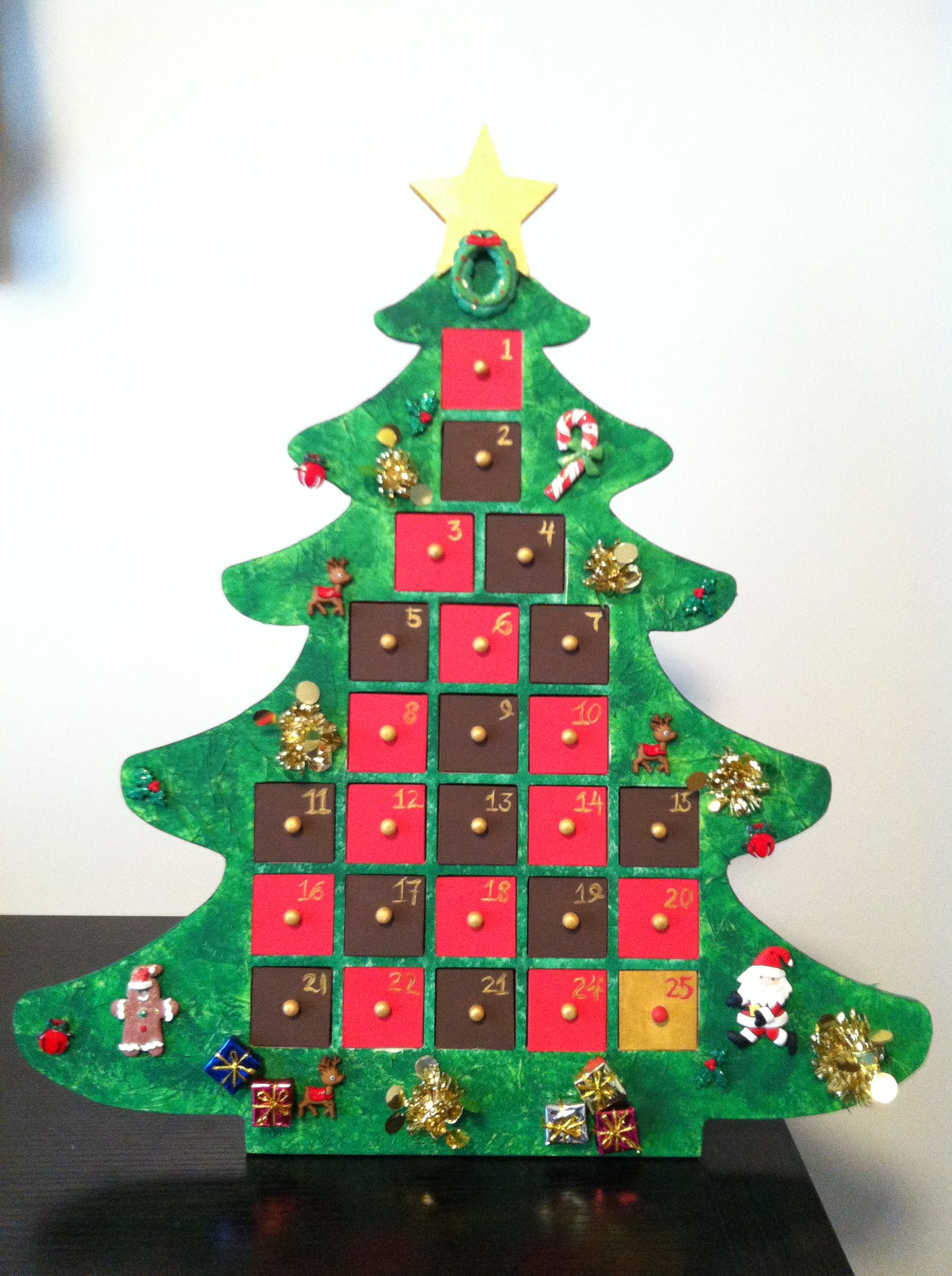 Do It Yourself Advent Calendar Unfinished Wooden Tree From Michaels Craft Store Decor Christmas Tree Advent Calendar Michaels Crafts Store Christmas Crafts