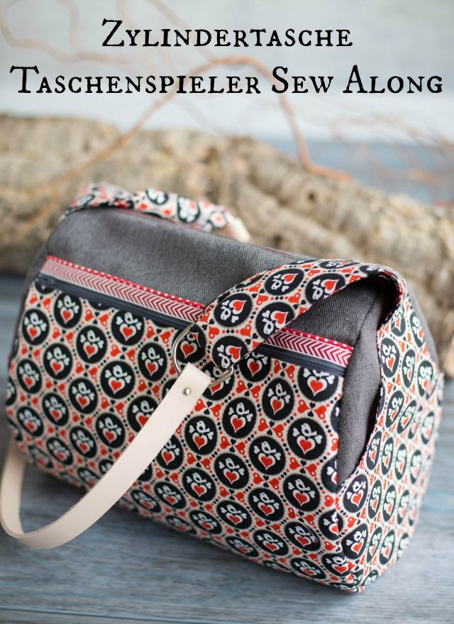 die zylindertasche sewing taschen n hen handtasche. Black Bedroom Furniture Sets. Home Design Ideas