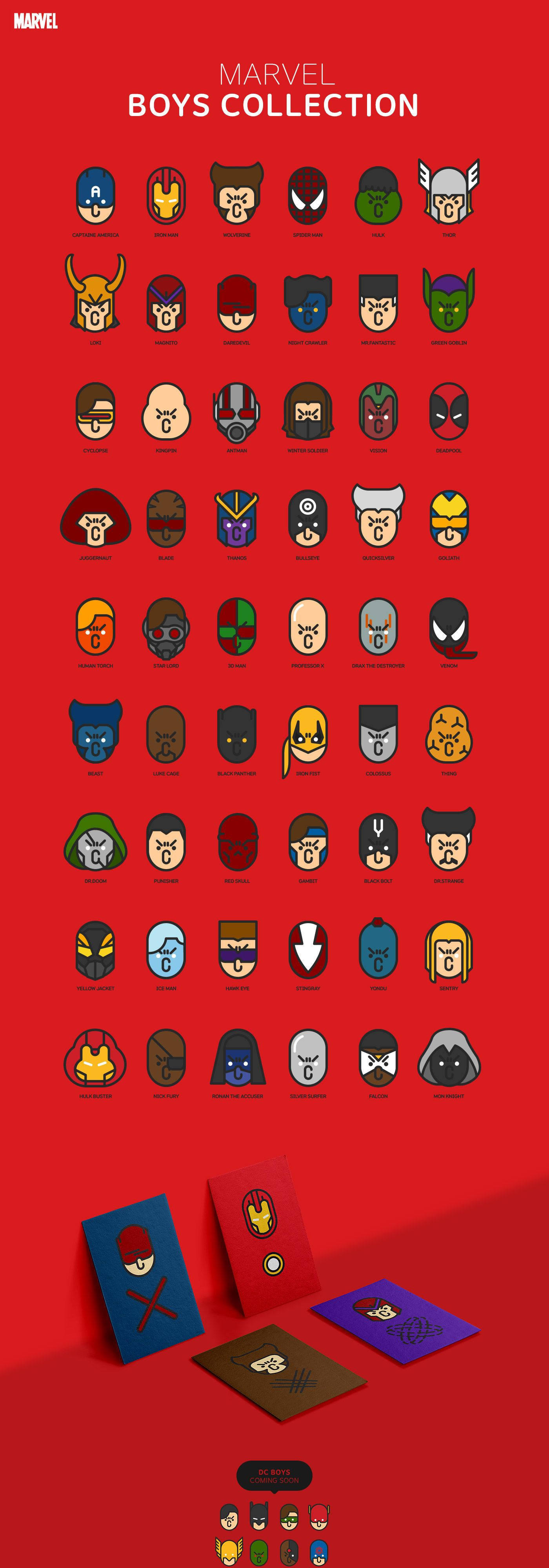 MARVEL BOYS on Behance