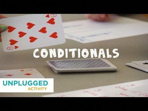 Unplugged - Conditionals with Cards