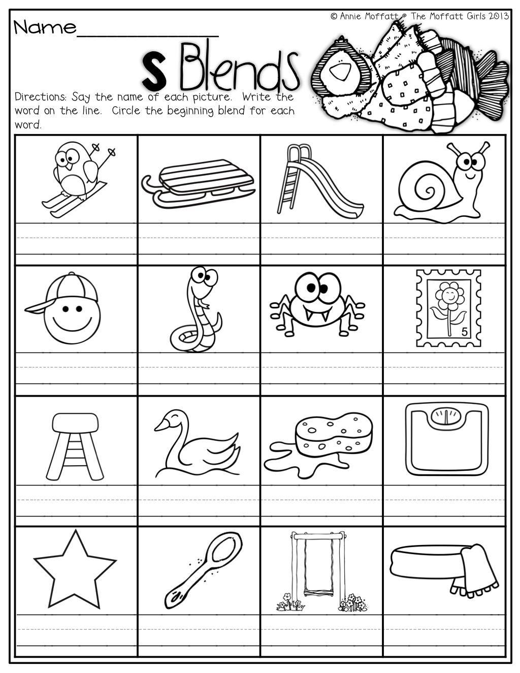 medium resolution of 16 Printable Worksheets Blending Sounds   Blends worksheets