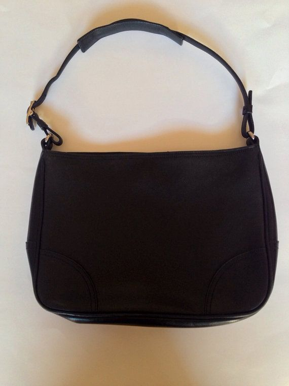 50f61a56c9 Vintage authentic Coach black leather small shoulder bag purse No K0K-8148  on Etsy