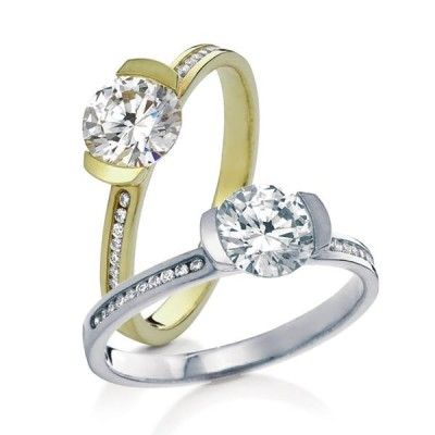 """Love this contemporary engagement ring the channel set """"Cava"""" from MaeVona"""