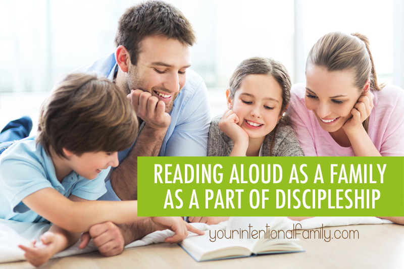 Family discipleship is an important part of family life. Have you ever considered reading aloud as a family as a part of discipleship?