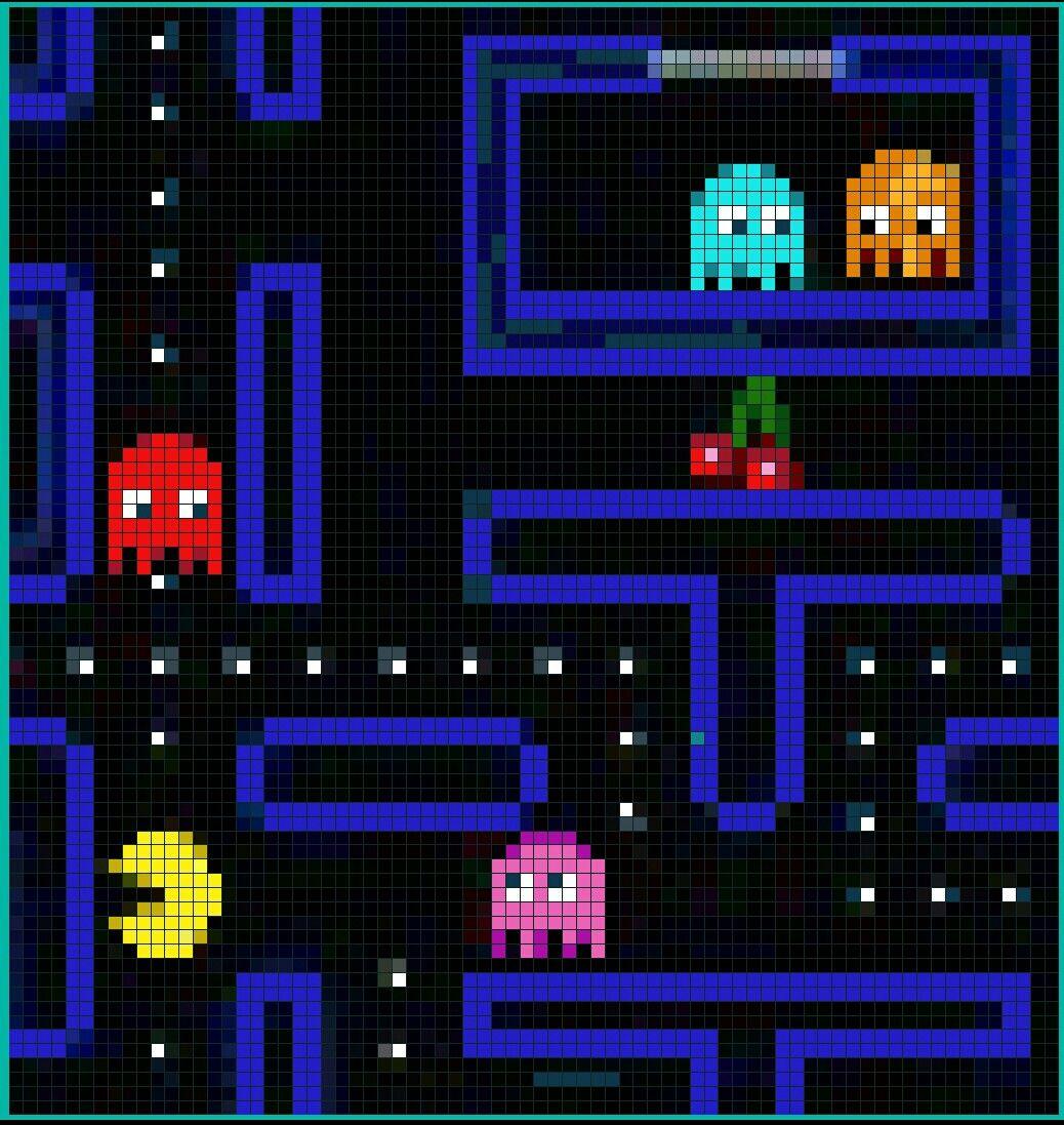 Pacman Pixel Crochet
