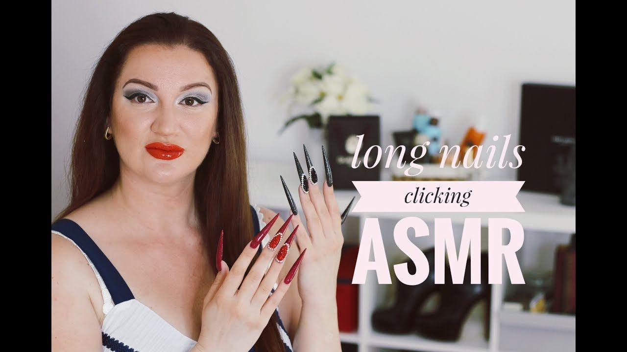 LONG NAILS CLICKING AND FLICKING ASMR INTENTIONAL   STILETTO NAILS ...
