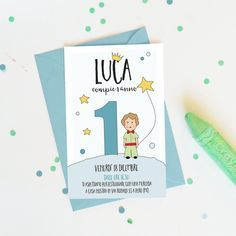 Printable Little Prince Birthday Party Invitation For A Little Boy