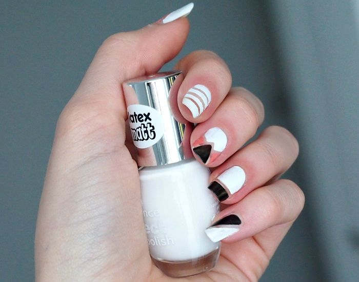 geometric nailart