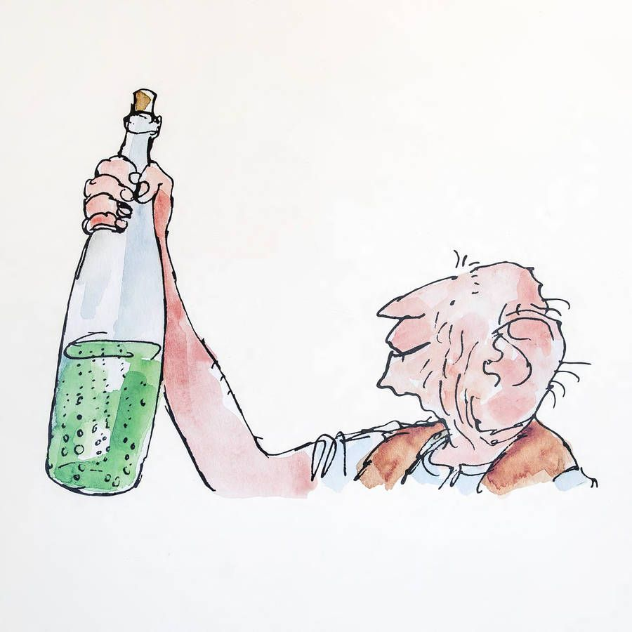 Transform your walls with this whipple scumptious wall sticker of the bfg beautifully illustrated by quentin blake for roald dahls the bfg