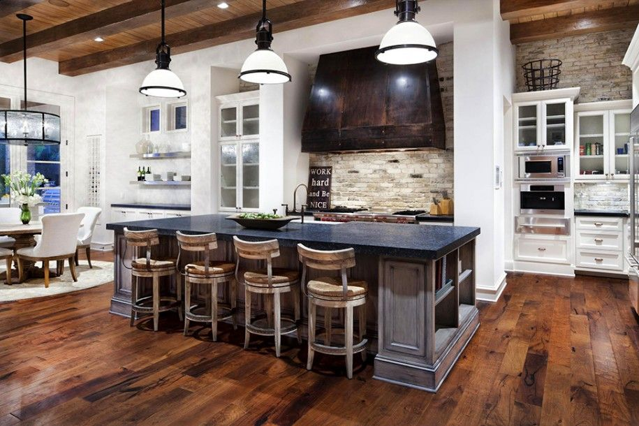 Inspiring Luxury Rustic Furniture Design For Your Home Awasome Traditional Kitchen With Wooden Floor And White Sofa Systink Apartment